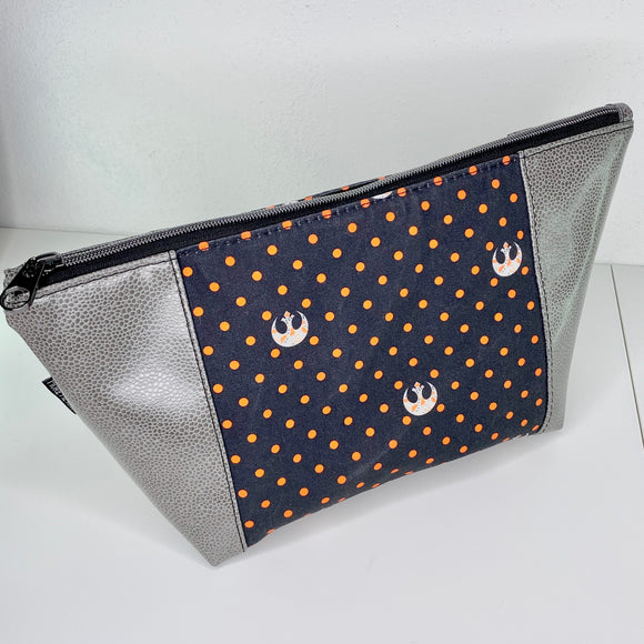 Rebel Orange Polka Dot | Toiletry Bag