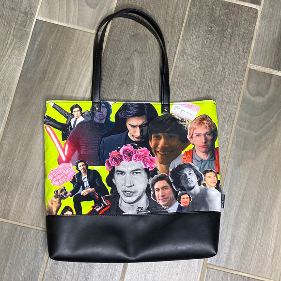 Adam Driver Inspired | Canvas Tote Bag With Vinyl Accent