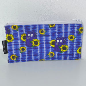 Sunflower TARDIS | Zipper Pouch