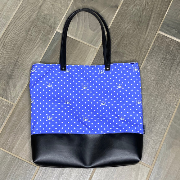 Rebel Polka Dot | Canvas Tote Bag With Vinyl Accent