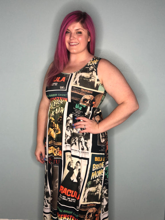 Monster Madness | Sleeveless Empire Waist Maxi Dress