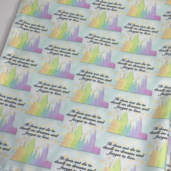 Pastel Rainbow Hogwarts - 1/2 Yard Cuts
