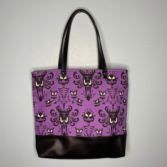 Haunted Mansion | Canvas Tote Bag With Vinyl Accent