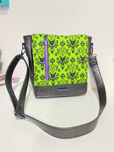 Neon Haunted Mansion | Mighty Messenger Bag