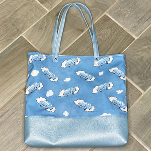 Flying Ford Anglia | Canvas Tote Bag With Vinyl Accent
