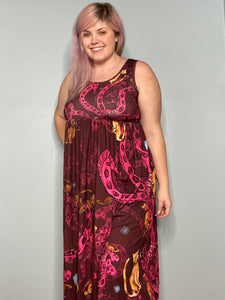 Flerken Kitty | Sleeveless Empire Waist Maxi Dress