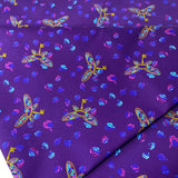 Purple Flying Keys - 1/2 Yard Cuts