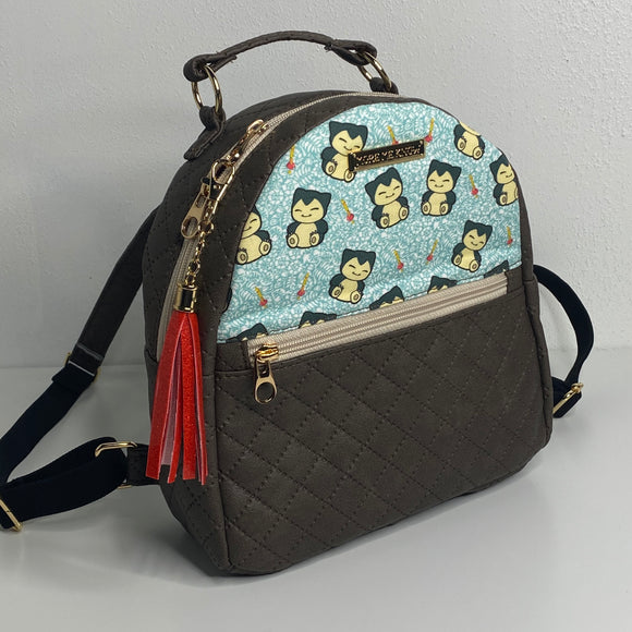 Snorlax with Quilted Vinyl | Mini Backpack