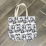 Parks and Rec A Sketch small repeat | Canvas Tote Bag