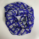 Royal Blue Polka dot TARDIS | Infinity Scarf