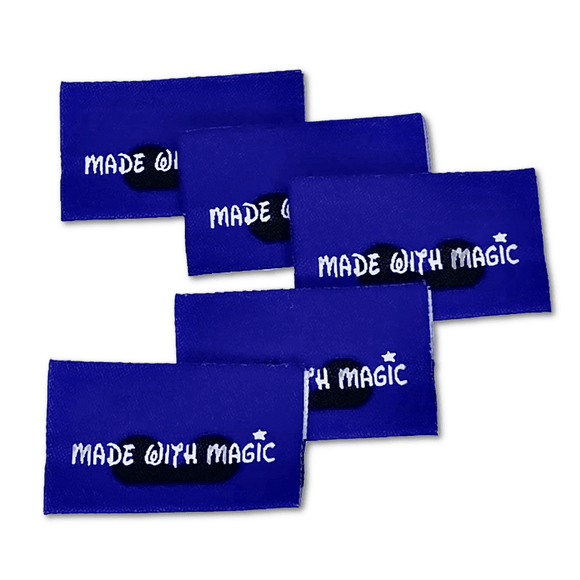 *Almost Sold Out* Made with Magic (Blue) | Woven Sew-in Labels - Pack of 5