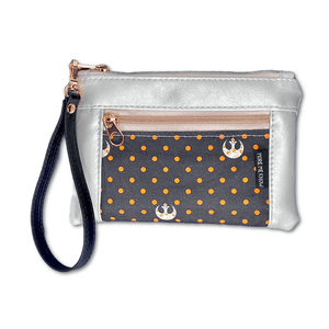 Orange Polka Dot Rebel | Wristlet