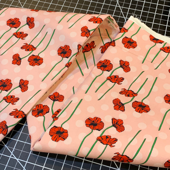 Polka Dot Poppies - 1/2 Yard Cuts