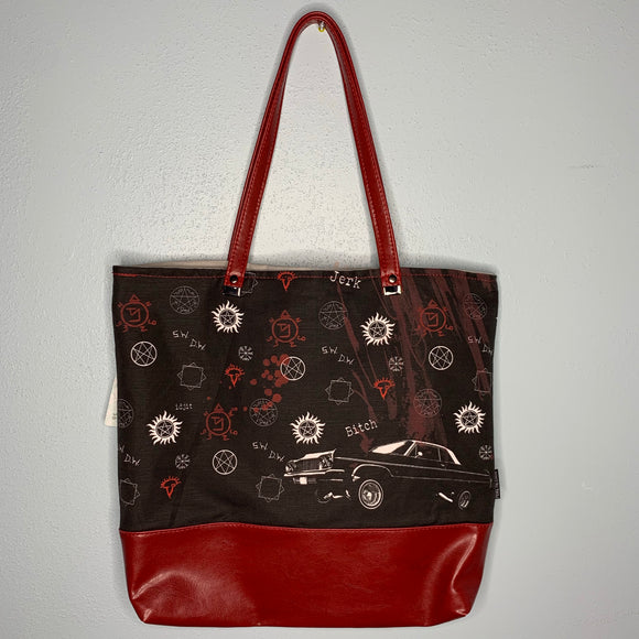 Supernatural Inspired | Canvas Tote Bag With Vinyl Accent