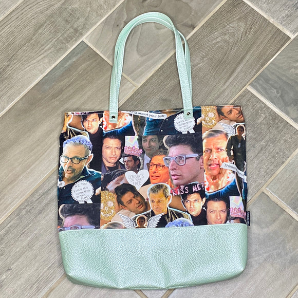 Jeff Goldblum Inspired | Canvas Tote Bag With Vinyl Accent