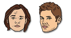 Supernatural - Winchester Brothers Soft Enamel Pin Set