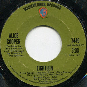 Alice Cooper ‎– Eighteen / Body