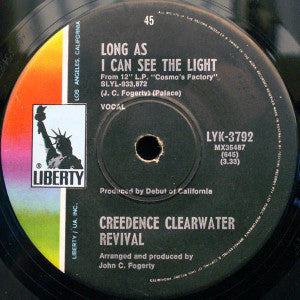 Creedence Clearwater Revival ‎– Long As I Can See The Light / Lookin' Out My Back Door