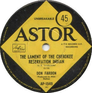 Don Fardon ‎– The Lament Of The Cherokee Reservation Indian