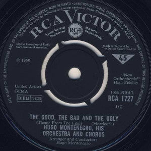 Hugo Montenegro, His Orchestra And Chorus ‎– The Good, The Bad And The Ugly
