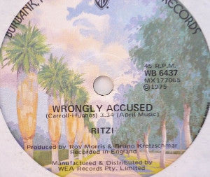 Ritzi ‎– Wrongly Accused / Too Much Fandango