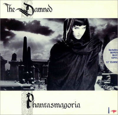 "The Damned ‎– Phantasmagoria + 12"" Mavi Single Plak (2xLP)"