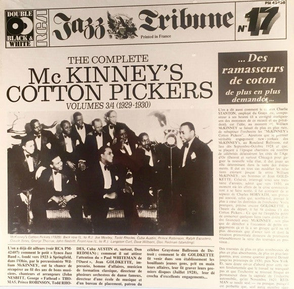 McKinney's Cotton Pickers ‎– The Complete McKinney's Cotton Pickers Volumes x 2LP