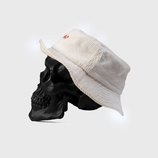 STAY BAD Bucket Hat - Off White Corduroy