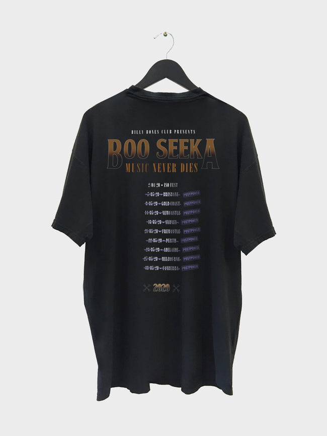 Boo Seeka Collab Tee - Music Never Dies