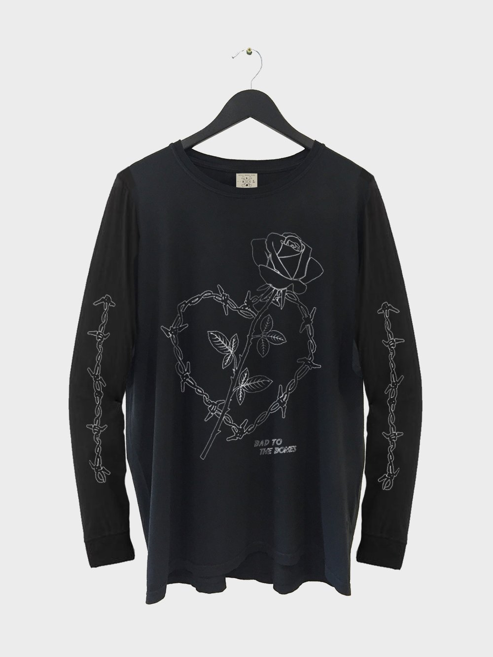 Wire Heart LS TEE - Black