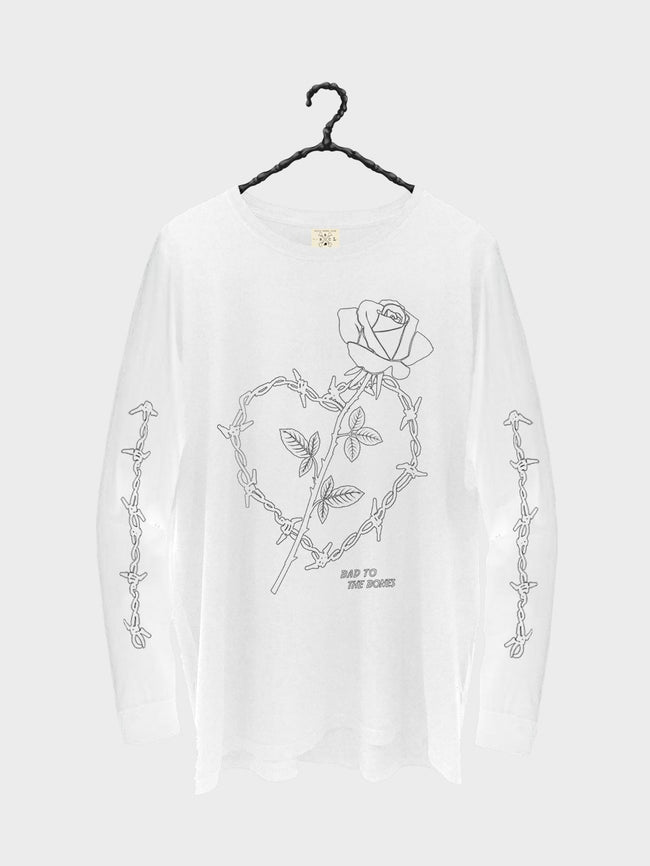 Wire Heart LS TEE - White