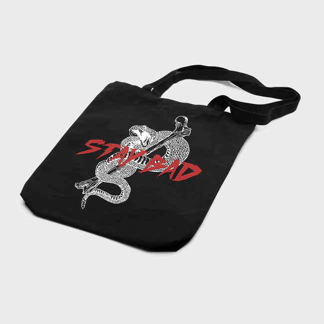 Stay Bad Tote - Washed Black