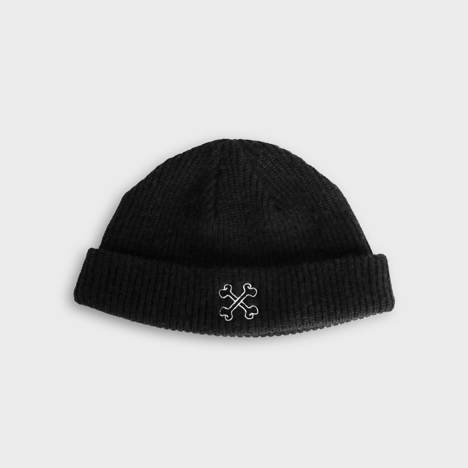 Cross Bones Logo Beanie - Black