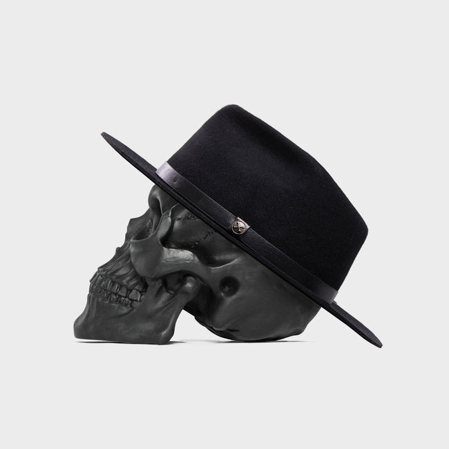 Black Wolf - Wide Brim Fedora