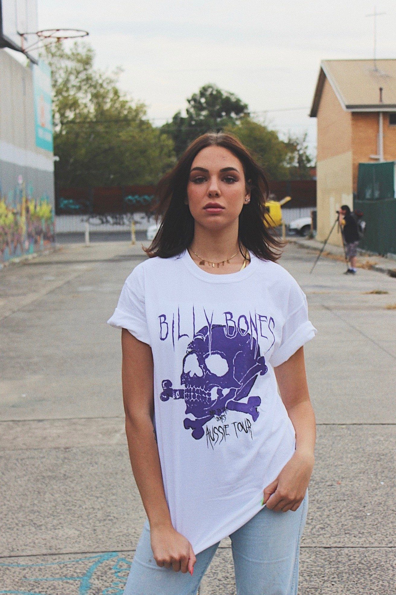 Purple Rain Tee - White