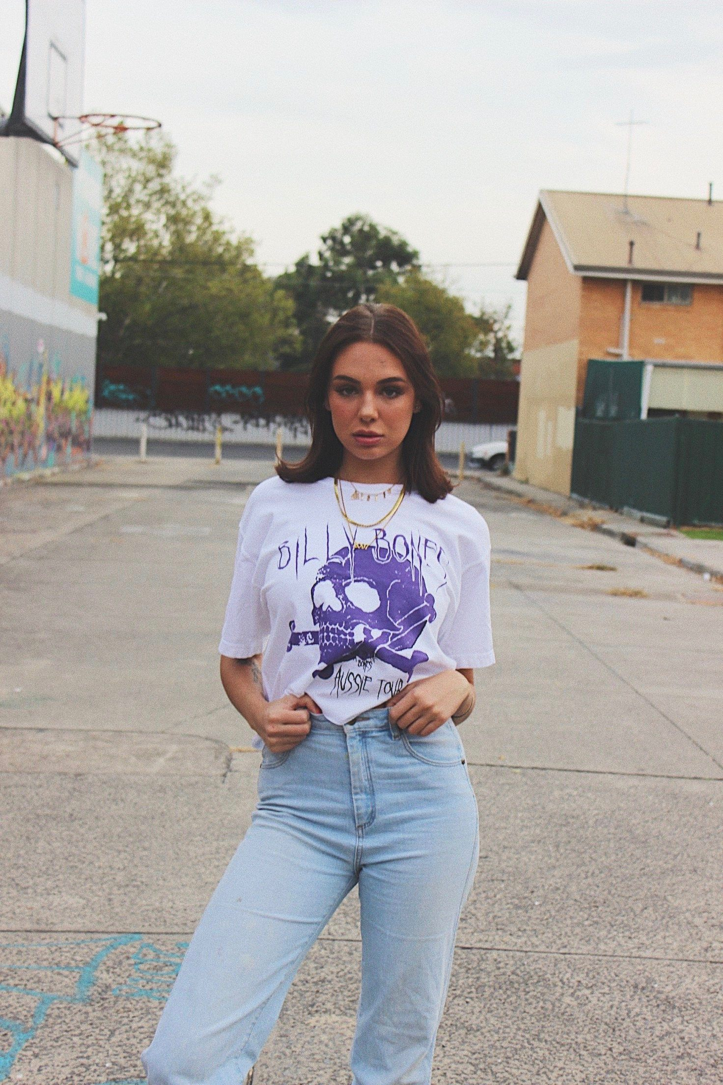 Purple Rain Crop - White
