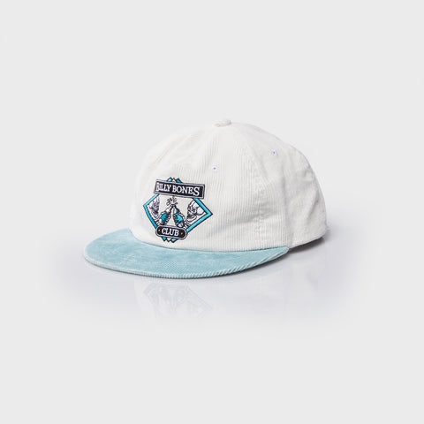 Bones Club Cord Washed Grey Cap