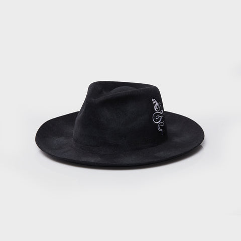 Greened Out - Wide Brim Fedora
