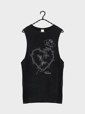 Wire Heart Tank - Vintage White