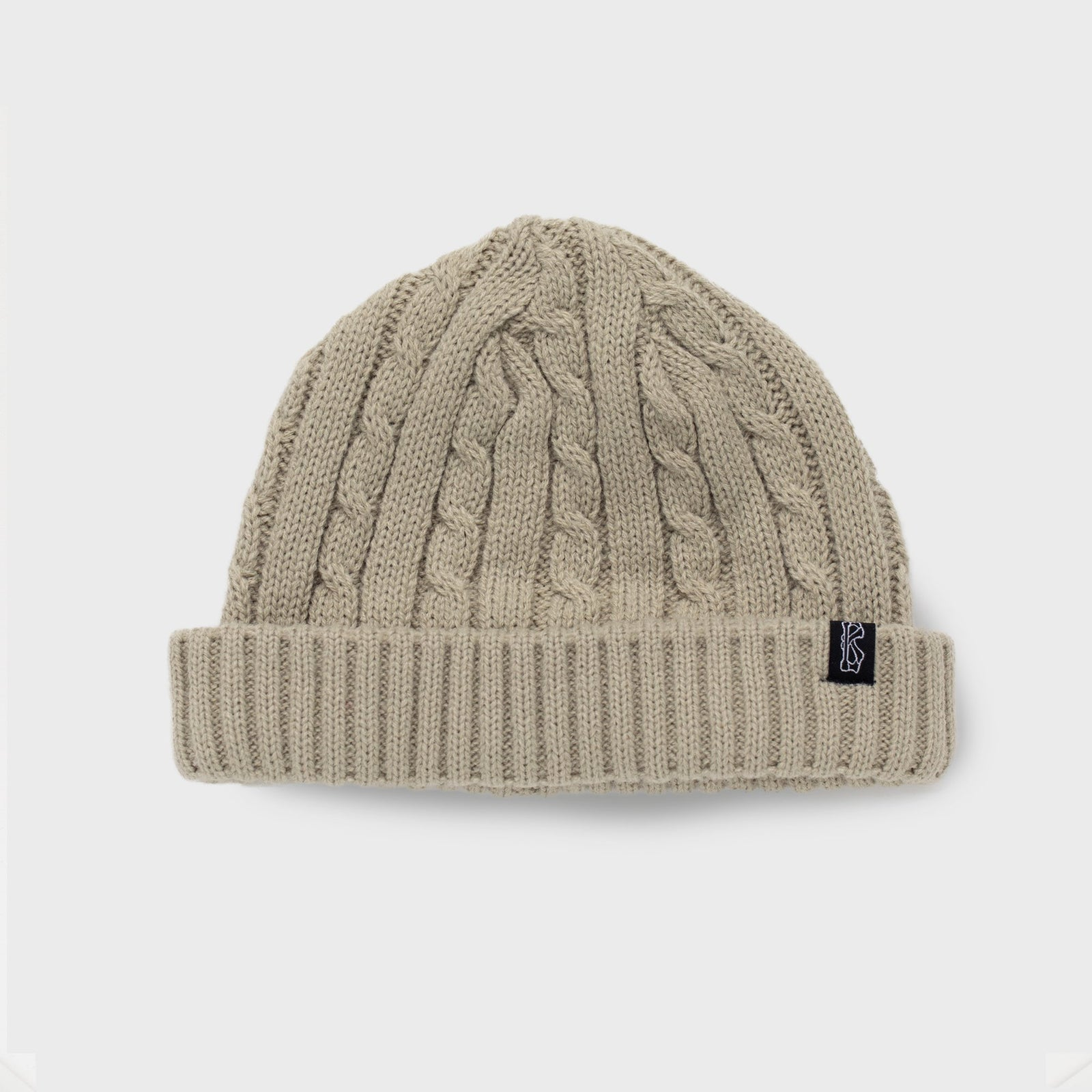 Vanilla Cream - Fisherman Knit Beanie