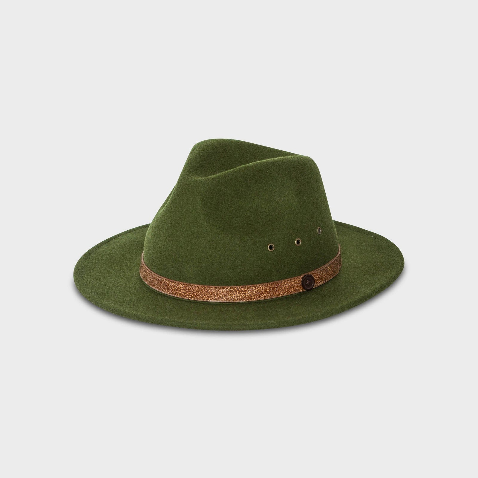 Jungle Green Fedora Hat  d9bf5ded3f7