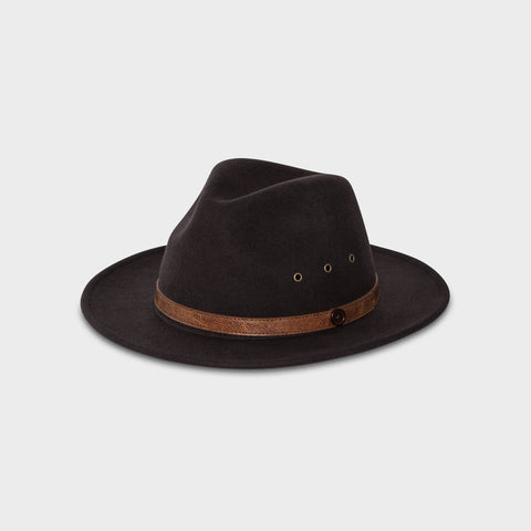 The Snake Fedora - Distressed White