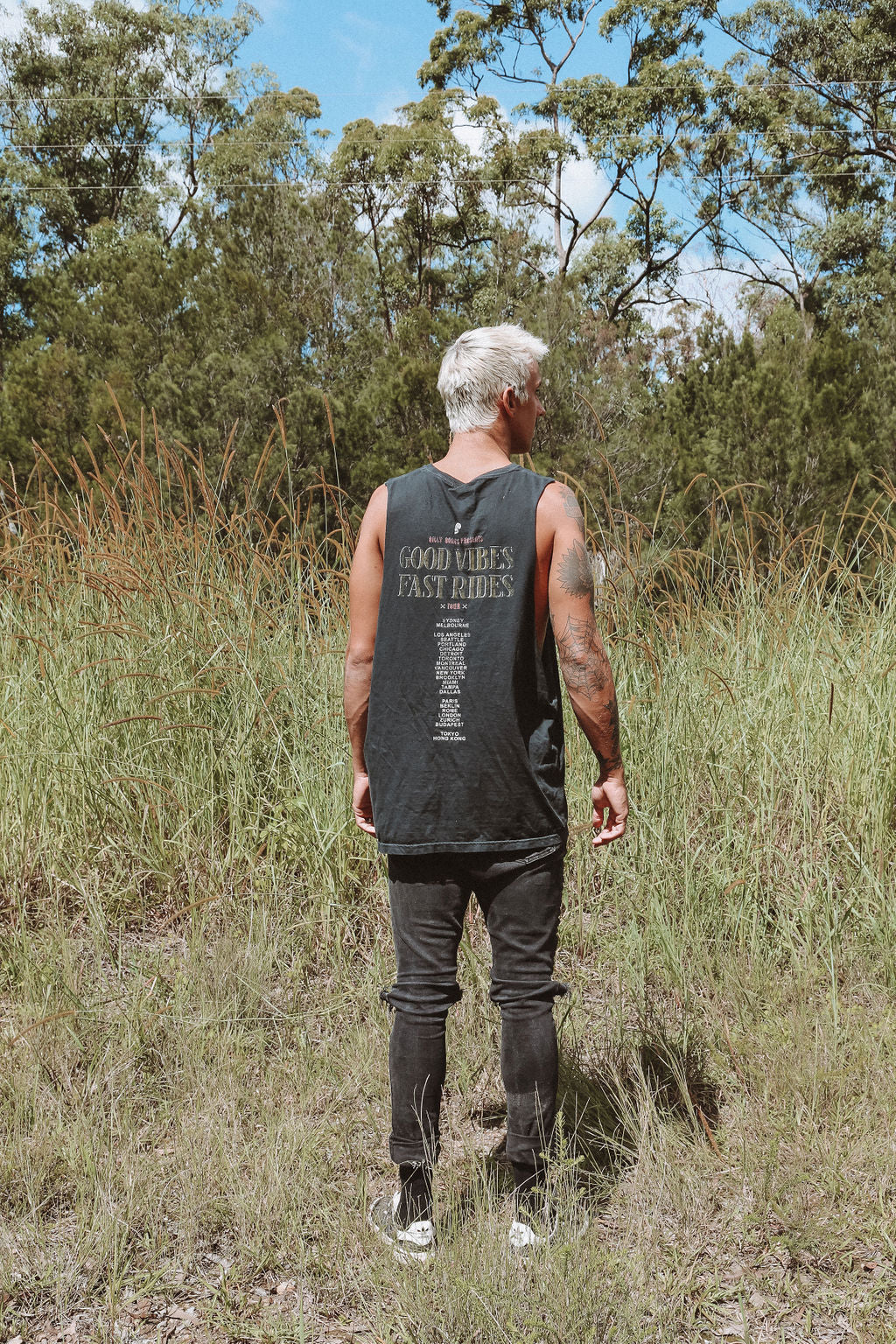 Back From The Dead Tour Tank - Distressed Black