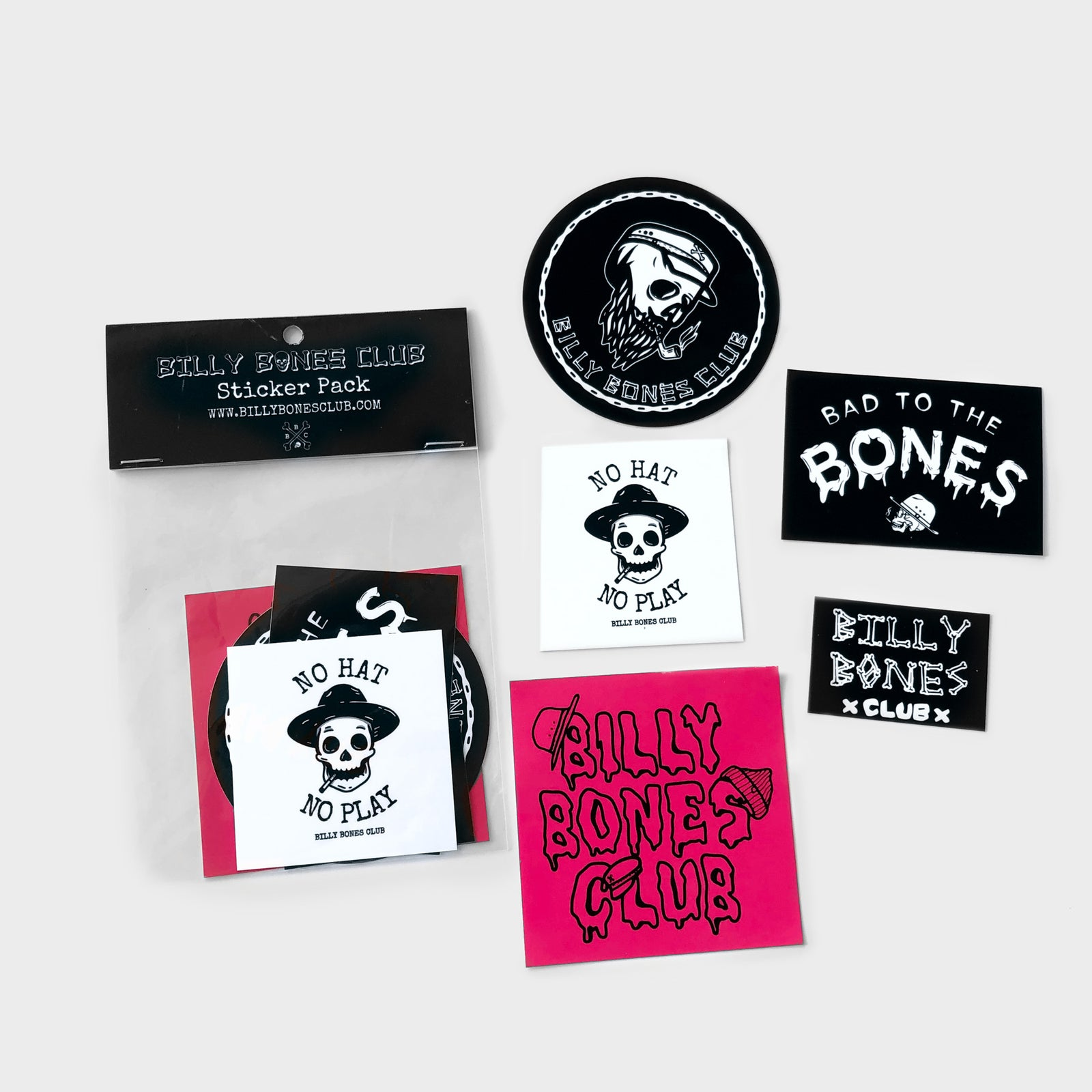 BAD TO THE BONES STICKER PACK