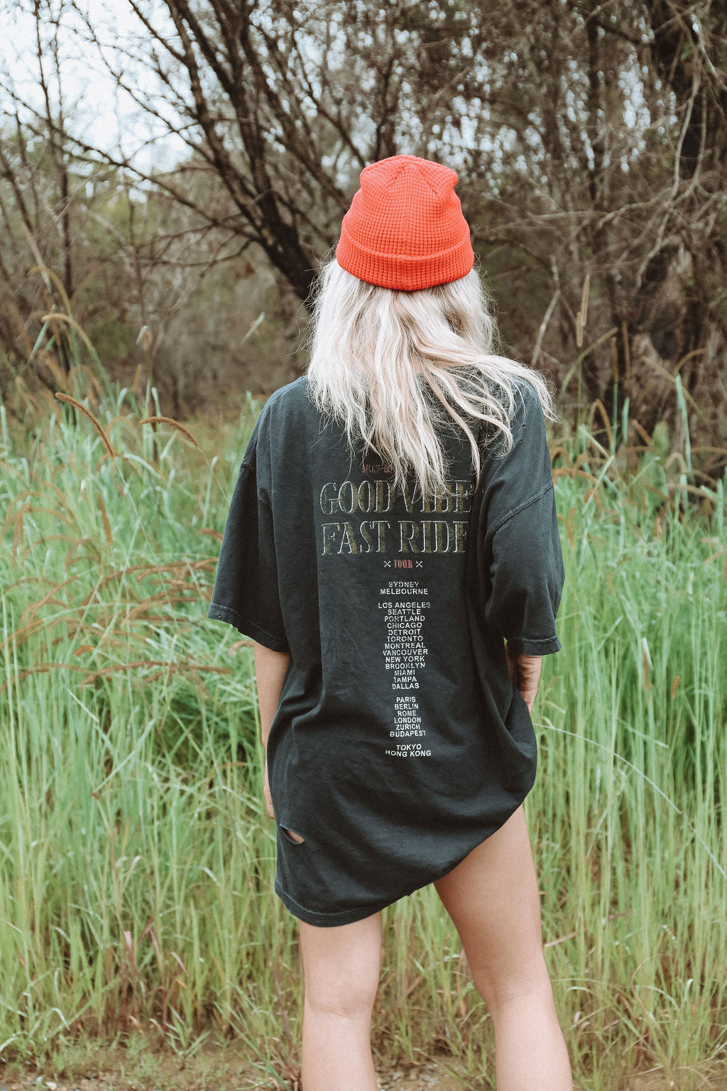Back From The Dead Tour Tee - Distressed Black