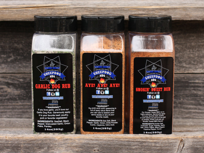 Sheepdog BBQ Rub Set (Large)
