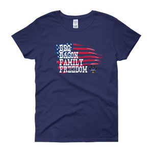 Patriotic Sheepdog BBQ - Women's short sleeve t-shirt