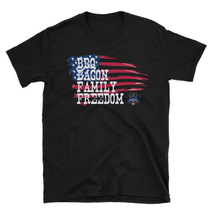 Patriotic Sheepdog BBQ Unisex T-Shirt