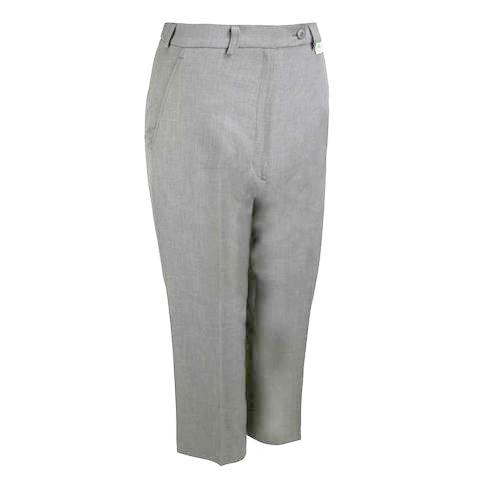 Ladies Cropped Trousers  Grey
