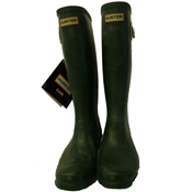 Hunters Mens Green Welly